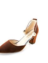 Damen-Sandalen-Lässig-PU-Flacher Absatz-Komfort-Schwarz Rot Grün Khaki
