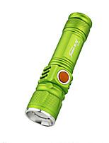 Beleuchtung LED Taschenlampen LED 350 Lumen 3 Modus LED Lithium-Batterie einstellbarer Fokus Wasserdicht Wiederaufladbar Super Leicht