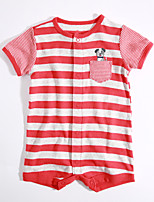 Baby Casual/Daily Striped One-Pieces,Cotton Summer Short Sleeve