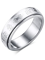 Ring Circle Steel Round Silver Jewelry For Daily 1pc