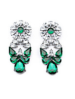 Stud Earrings Crystal Flower Style Euramerican Fashion Personalized Chrome Jewelry For Wedding Party Birthday Gift 1 pair