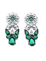 Boucles d'oreille goujon Cristal A Fleurs Mode Personnalisé euroaméricains Violet Rouge Vert Bijoux Pour Mariage Soirée Anniversaire1