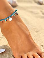 Bijuteria de Corpo/Corrente para Perna Liga Turquesa Infinidade Natureza Moda Estilo Boêmio Confeccionada à Mão Turco Dourado Prateado