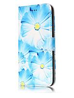 Для Бумажник для карт Кошелек со стендом Флип С узором Кейс для Чехол Кейс для Цветы Твердый Искусственная кожа для HuaweiHuawei P10 Lite