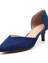 Черный Серый Синий-Для женщин-Для офиса Для праздника Повседневный-Флис-На шпильке-клуб Обувь-Обувь на каблуках