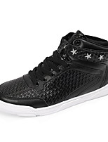 Men's Sneakers Spring / Summer / Fall / Winter Comfort Leather Outdoor / Office & Career / Casual Flat Heel Lace-up Black / White/Red
