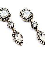 Earrings Set Crystal Unique Design Euramerican Fashion Chrome Jewelry For Wedding Party Birthday Gift 1 pair