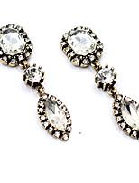 Boucles d'oreilles Cristal Original Mode euroaméricains Blanc Bleu Bijoux Pour Mariage Soirée Anniversaire 1 paire