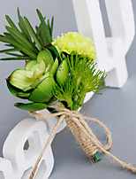 Wedding Flowers Free-form Peonies Boutonnieres Wedding Party/ Evening Green Polyester