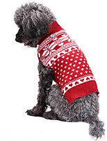 Cat Dog Coat Sweater Dog Clothes Winter Spring/Fall Snowflake Cute Fashion Christmas