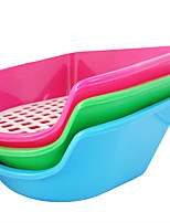 Hot new high-quality plastic pet cat toilet toilet grid small puppy cat hamster rabbit special potty