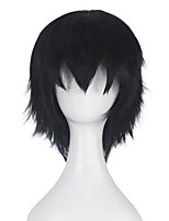 Synthetic Short Straight Hair for Women Men Unisex Multi-colors Cosplay Costume Party Wig Halloween