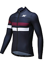 Mysenlan Cycling Jersey Men's Long Sleeve Bike Breathable Quick Dry Jersey Polyester Classic Fashion Spring Summer Fall/Autumn