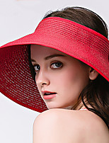 Women 's Summer Anti-UV Outdoor Travel Shade Sun Visor Sunscreen Beach Folding Bow Straw Empty Top Hat