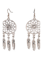 Dangle Earrings Jewelry Alloy Dangling Style Pendant Tassel Tassels Vintage Bohemian Euramerican Fashion Jewelry Feather Silvery Jewelry