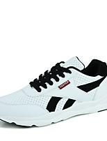 Herren-Sneaker-Outddor Lässig Sportlich-PU-Flacher Absatz-Mary Jane-Weiß Schwarz/weiss Rot/Weiß