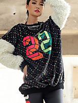 Women's Casual/Daily Sweatshirt 3D Print Round Neck Inelastic Rabbit Fur Long Sleeve Spring Winter