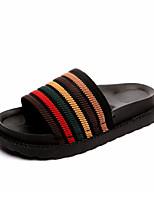 Women's Slippers & Flip-Flops Summer Mary Jane Linen Casual Flat Heel Ruffles Walking