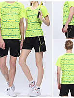 Unisex Half Sleeve Tennis Clothing Sets/Suits Shorts Breathable Quick Dry Comfortable Green Red Black Leisure Sports BadmintonM L XL XXL