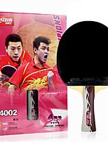 4 étoiles Tennis de table Raquettes Ping Pang Bois Long Manche Boutons Intérieur Utilisation Exercice Sport de détente-#