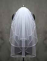 웨딩 면사포 세층 팔꿈치 베일 손가락 베일 리본 가장자리 명주그물