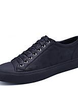 Herren-Sneaker-Outddor Büro Lässig-Leder-Flacher Absatz-Mary Jane-Schwarz Armeegrün