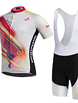 AOZHIDIAN Summer Cycling Jersey Short Sleeves BIB Shorts Ropa Ciclismo Cycling Clothing Suits #AZD153