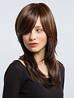Comfortable Mixed Color Long  Hair Partial Fringe Hair  Hair Elegant  Woman hair