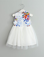 Girl's Going out Casual/Daily Print Dress,Cotton Summer Sleeveless
