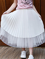 Girls' Casual/Daily Solid Skirt-Cotton Rayon Summer
