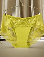 Sexy Couleur Pleine Sous-vêtements Ultra Sexy Slips-Nylon
