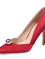Women's Heels Spring Club Shoes Silk Wedding Office & Career Party & Evening Dress Stiletto Heel Pearl Imitation Pearl