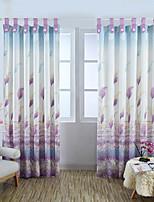Jeden panel Window Léčba Neoklasika Evropský Obývací pokoj Lněný Materiál záclony závěsy Home dekorace For Okno