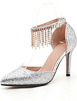 Women's Sandals Summer Fall D'Orsay & Two-Piece Synthetic Wedding Party & Evening Dress Stiletto Heel Rhinestone Sequin