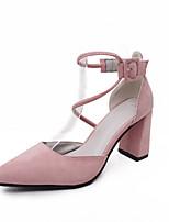 Damen-Sandalen-Outddor Lässig-Vlies-Blockabsatz-Club-Schuhe-Schwarz Grau Rosa