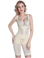 Women's Underbust Corset Nightwear,Push-Up Solid-Thin Nylon Women's
