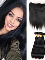 One Pack Solution Cheveux Malaisiens Droit 12 mois 5 Pièces tissages de cheveux