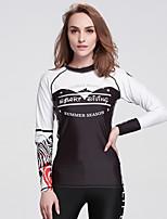 SBART® Femme Résistant aux ultraviolets Elasthanne Térylène Tenue de plongée Manches longues Hauts/Tops-Plongée SnorkelingPrintemps Eté