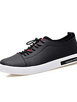 Running Shoes Men's Fashion Casual Shoes EU39-44 Hight-top Microfiber Board Flats Shoes Black/White