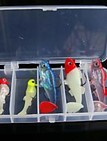 1 pcs Soft Bait Random Colors g/Ounce mm inch,Plastic General Fishing