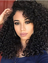 10-26 Inch Human Virgin Hair Natural Black Color Lace Front Wig Small Curly Hair with Baby Hair