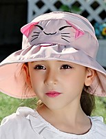 Children's Lovely Fashion Flat  Basin Children Fisherman Cap Sun Hat Cat Ear Cap