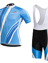 AOZHIDIAN Велокофты и велошорты-комбинезоны унисекс Короткие рукава ВелоспортДышащий Быстровысыхающий Защита от пыли Пригодно для носки