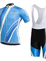 AOZHIDIAN Maillot de Ciclismo con Shorts Bib Unisex Mangas cortas BicicletaTranspirable Secado rápido A prueba de polvo Listo para vestir