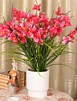 1 Branch Polyester Plastic Orchids Tabletop Flower Artificial Flowers 58*11