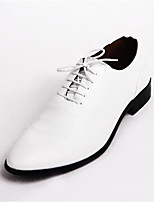 Men's Oxfords Spring Summer Fall Winter Comfort Leather Office & Career Casual Black Yellow Red