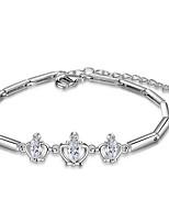 Dames Armbanden met ketting en sluiting Zirkonia Vriendschap Modieus Bohemia Style Movie Jewelry Luxe Sieraden Sterling zilver Zirkonia