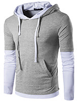 Men's Casual/Daily Street chic Shirt,Geometric Shirt Collar Long Sleeve Polyester