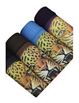 4 Pcs/Lot Men's Fashion Sexy Printed Animal Boxers Underwear Cotton Modal Panties