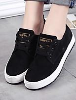 Damen-Sneaker-Lässig-PU-Flacher Absatz-Komfort-Schwarz Grau Armeegrün